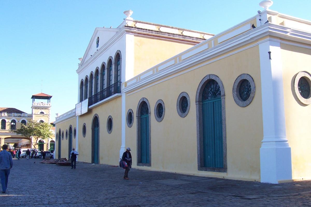 Obra de restauração da Antiga Alfândega, Florianópolis - SC