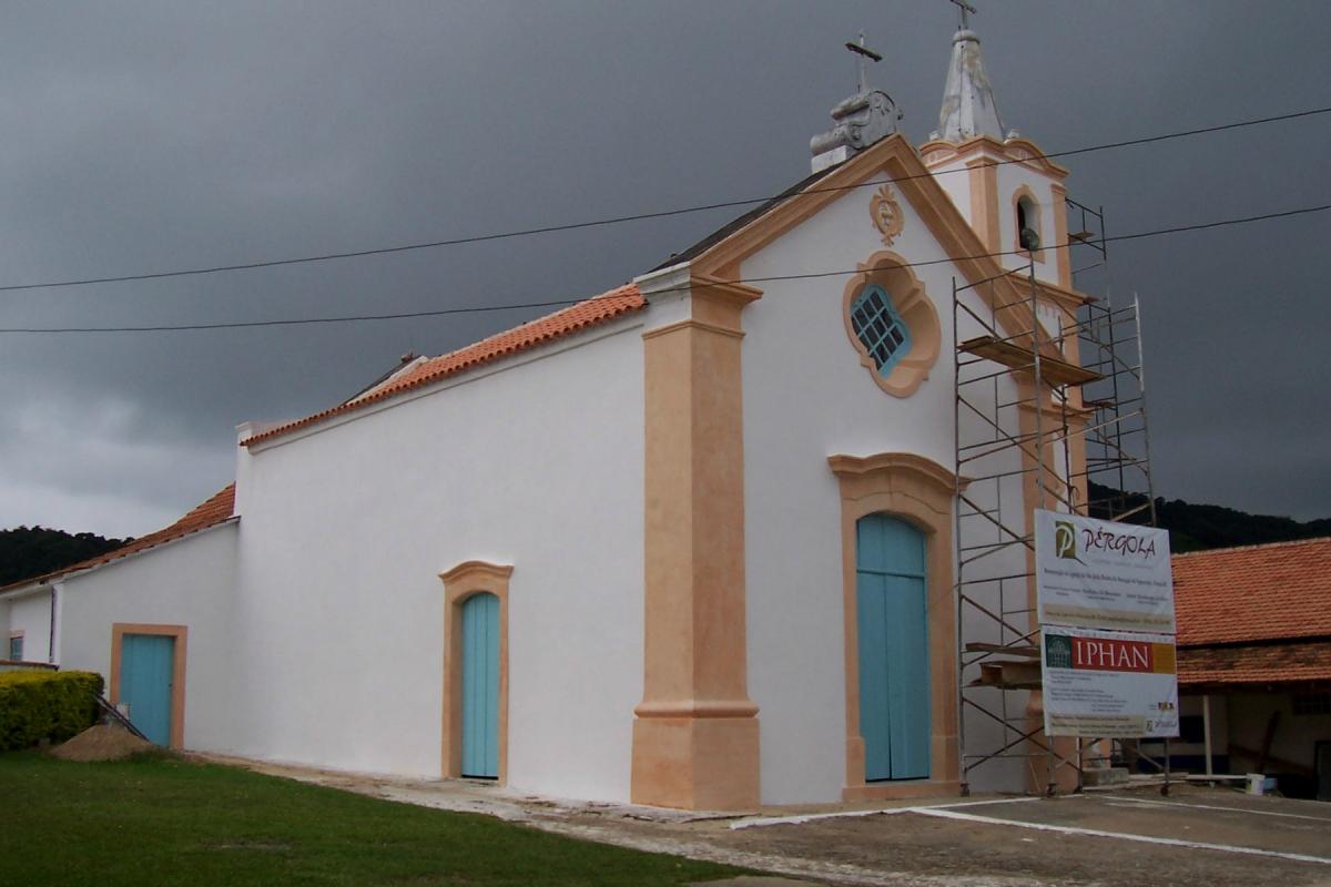 Obra de restauração da Igreja de São João Batista de Itapocorói, Penha - SC