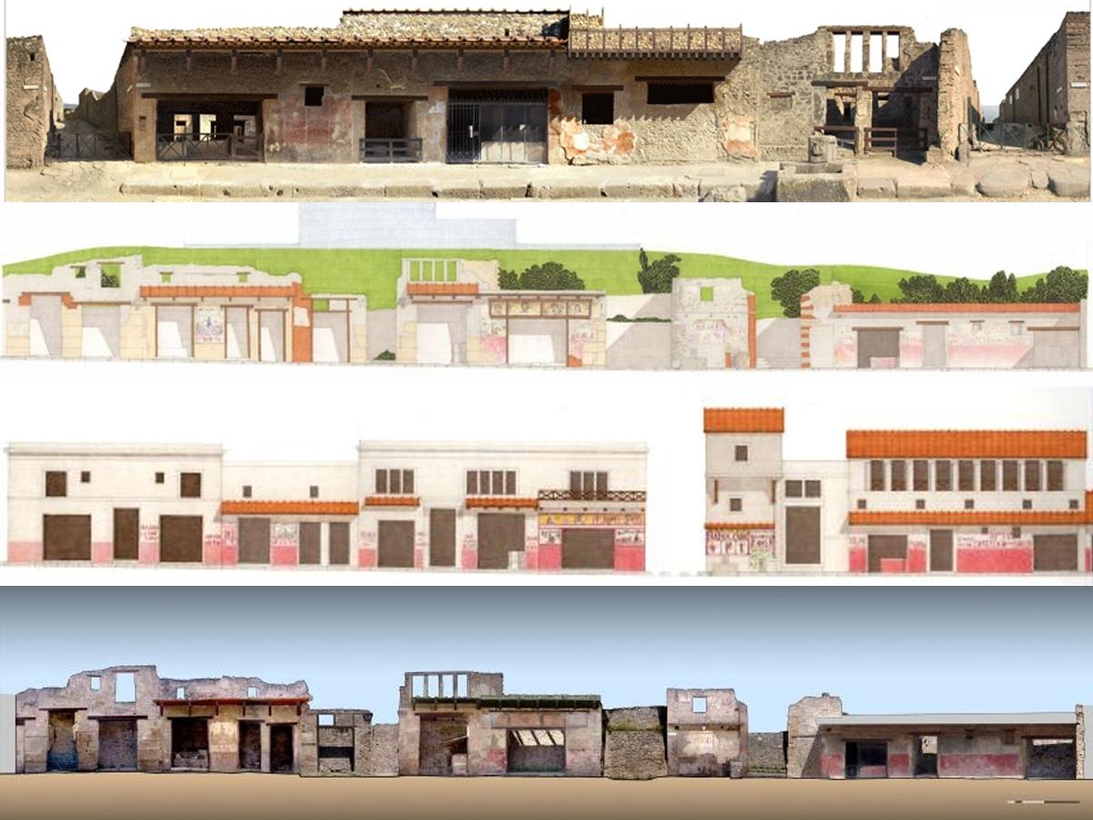 Tirocínio em canteiro de restauração de afrescos, Pompéia, Itália